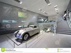 Classic Silver BMW 328 Race Car On Display In BMW Museum