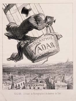 nadar elevating photography  art honore daumier