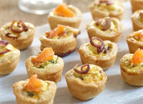 smoked salmon canape ideas mini salmon and dill pastry recipes jus rol