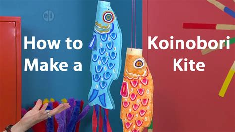 how to make a koinobori japanese kite pastel tutorial 979 | maxresdefault