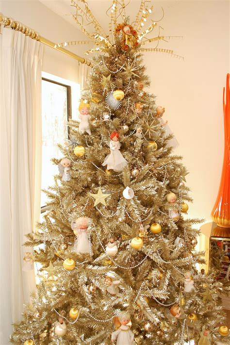 gold decorated christmas tree who says a christmas tree has to be green treetopia blog