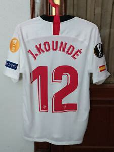Stage 4 from redon to fougeres, is 150.4km long over flat terrain, so a bunch sprint is #12 KOUNDÉ, SEVILLA FC Match Worn PLAYER home shirt used ...