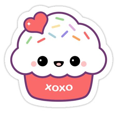 sticker x stiker laptop quot cupcake quot stickers by sugarhai redbubble