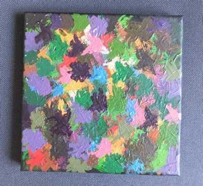 keilrahmen bild mit kindern gemalt malen