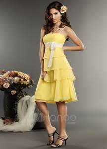 yellow bridesmaids dresses 5 kinds of yellow bridesmaid dresses