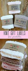Free printable knit gift labels for Hand knit with love labels