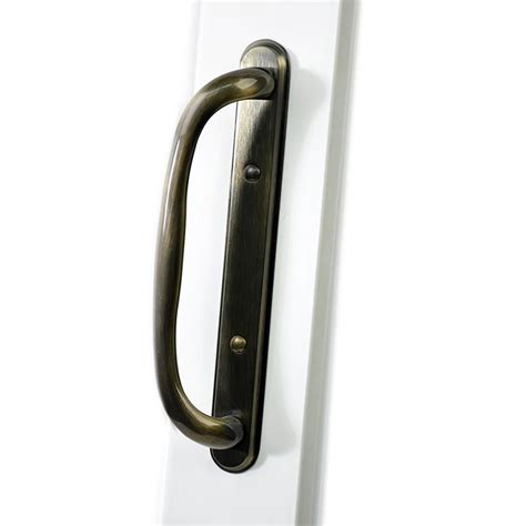 shop securaseal 4 in antique brass surface mount sliding
