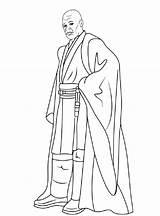 Mace Coloring Windu Pages Wars Star Sheets Starwars Visit sketch template