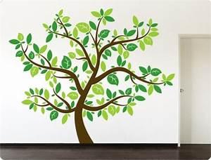 Baum An Wand Malen : wandtattoo wandtattoo baum dreifarbig n11489 ein designerst ck von i love wandtattoo ~ Frokenaadalensverden.com Haus und Dekorationen