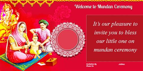 mundan ceremony decoration mundan ceremony invitation quotes card design and