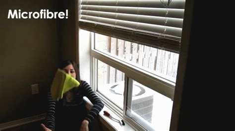 clean window sills easy household cleaning ideas