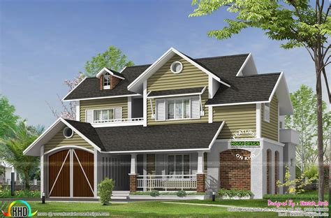 cute european style home kerala home design  floor plans