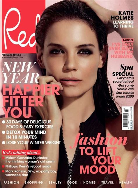 Katie Holmes  Red Magazine Cover (february 2015
