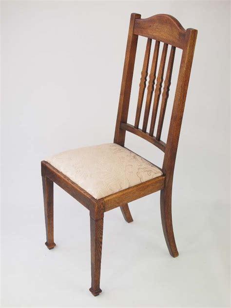 harlequin set  vintage oak dining chairs