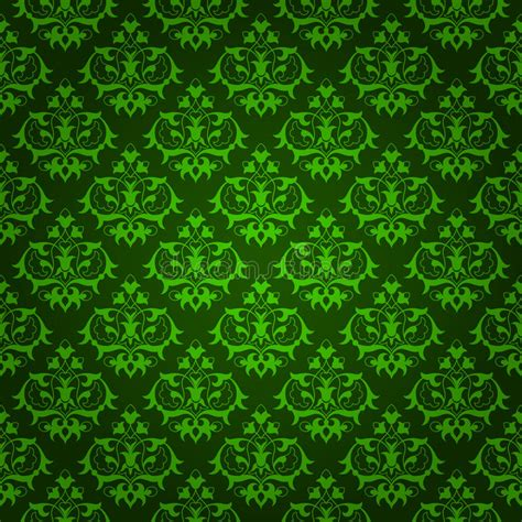Elegant Green Floral Background Stock Vector