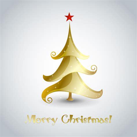 creative xmas tree christmas cards vector