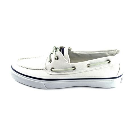 White Boat Shoes by Sperry Top Sider Sperry Top Sider Bahama 2 Eye Men Canvas