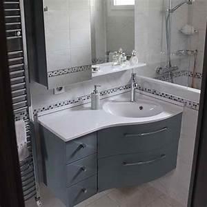 Meubles salle de bain plan en resine vasque moulee for Salle de bain design avec lavabo resine