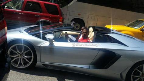 tracy morgan spotted driving  lamborghini  year