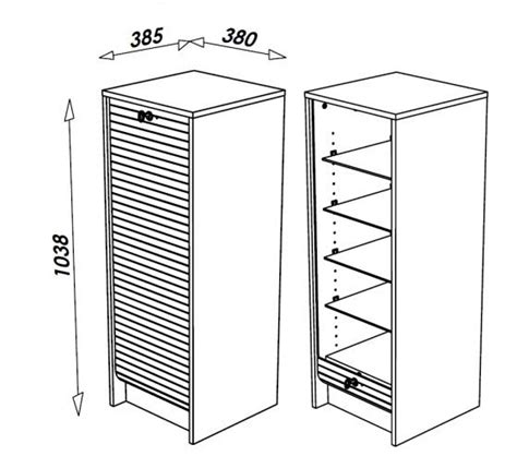 meuble de rangement bureau à rideau panneau coulissant classeur de rangement à rideau en bois 105 cm 3 coloris