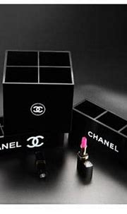 Acrylic chanel inspired luxury designer makeup brush ...