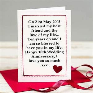 personalised wedding anniversary card by jenny arnott With what to buy for a 10th wedding anniversary