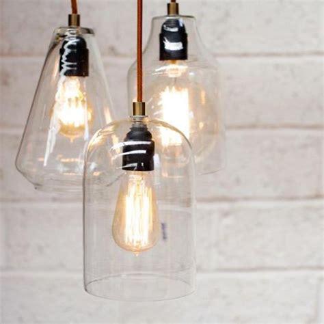 suspension cuisine verre suspension en verre transparent malosa nkuku luminaires