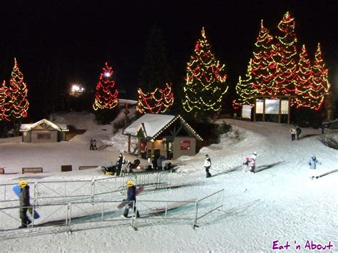 vancouver bc christmas lights dine out vancouver 2014 the observatory grouse mountain
