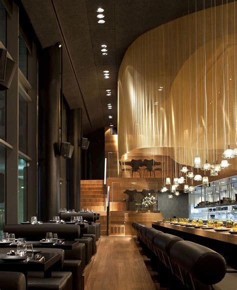restaurant interior decorating  golden color scheme