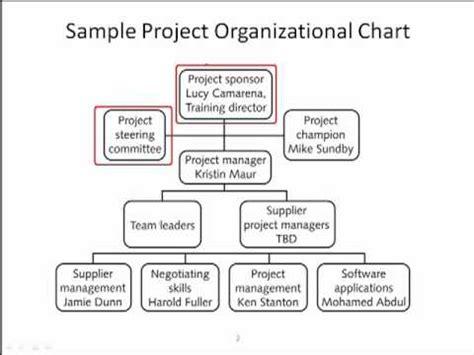 project organization chart youtube