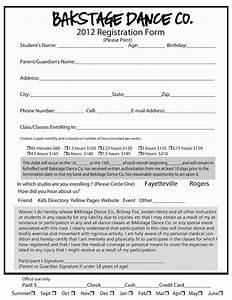 luxury printable registration form template downloadtarget With dance school registration form template free