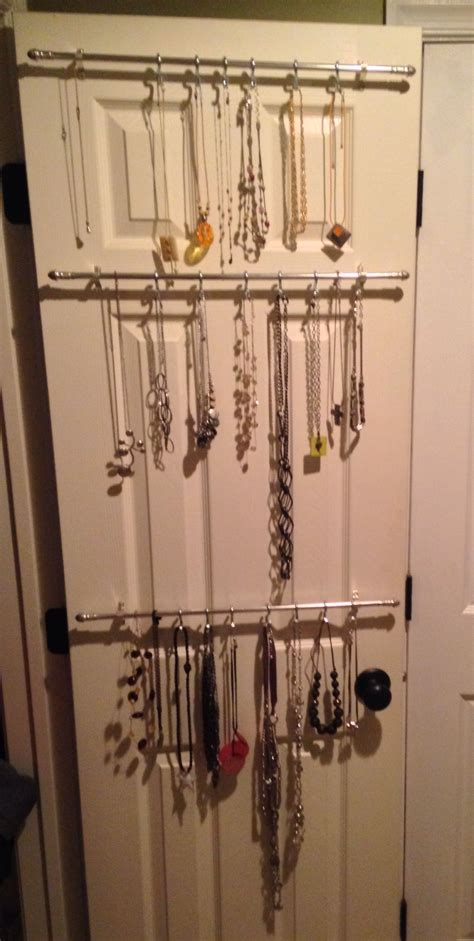 necklace organizer cheap curtain rods   hooks