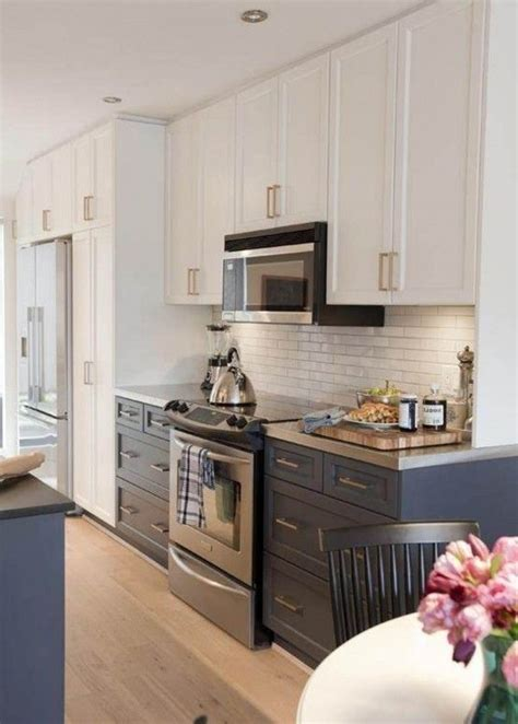 creative ideas for kitchen cabinets darker lowers white uppers decorating home