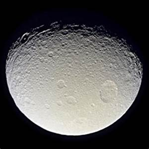 Tethys, moon of Saturn - The Solar System on Sea and Sky