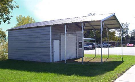 Steel Garage Carport Combo, One, Two Or Three Car Metal Garage