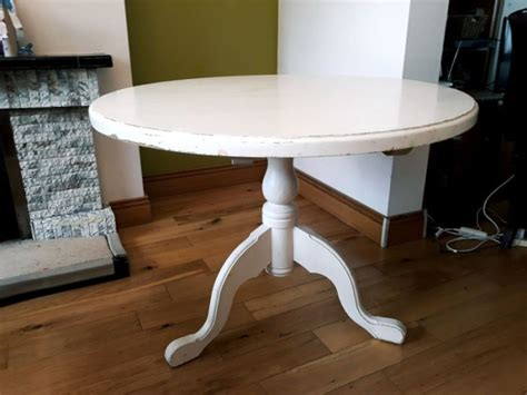 country white solid wood  dining table