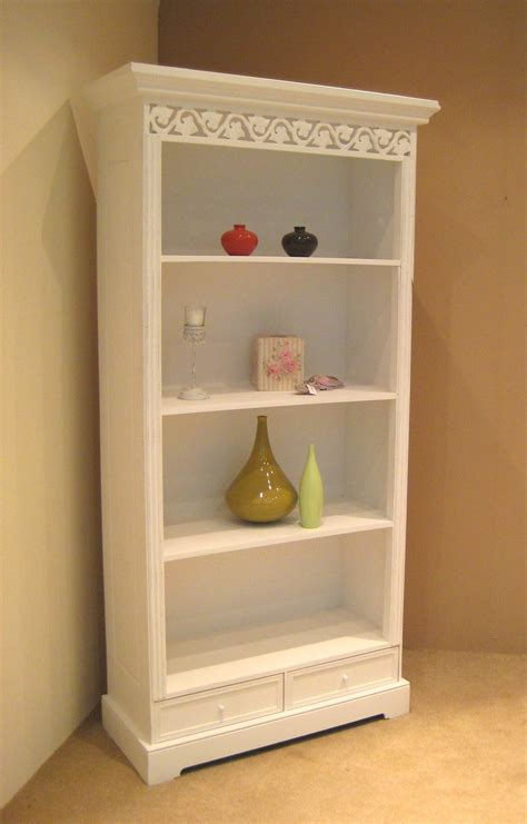 white dresser with shelves corner shabby chic bookcase doherty house popularity