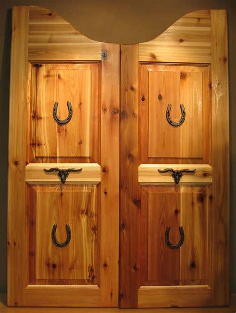custom  western saloon cafe swinging doors wood bar