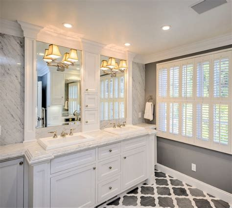 white master bathroom ideas crown molding around mirrors trim master bath like
