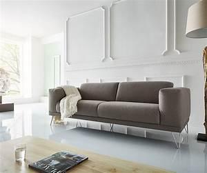 3 Sitzer Sofa Grau : 3 sitzer lordina 220x90 cm grau f e metall premium m bel sofas 2 3 sitzer ~ Bigdaddyawards.com Haus und Dekorationen
