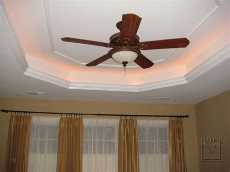 tray ceiling with lighting the crown molding our addition tray