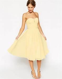 couleurs pastels robe jaune pastels pinterest With robe invitée mariage avec bijoux femme mariage