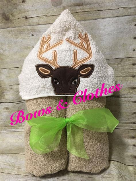 deer hooded towel bows  clothes