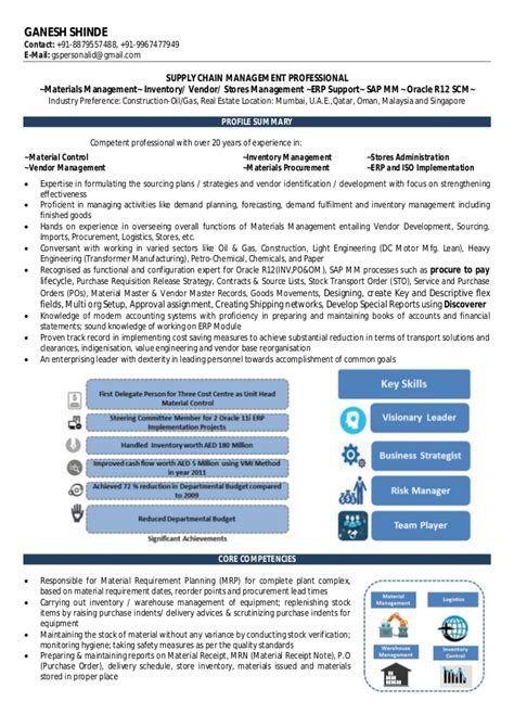 Manpower Resume Writing by 20 Years Of Experience Resume