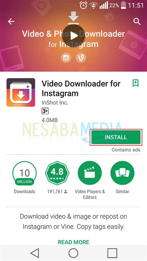 video  instagram  aplikasi