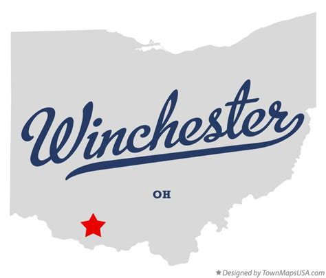 Map of Winchester, Adams County, OH, Ohio