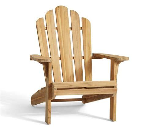 teak adirondack chair pottery barn