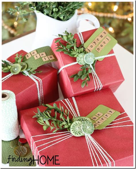 Gift Wrap Ideas Buttons & Boxwood  Finding Home Farms