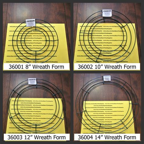 wire wreath forms 8 10 12 and 14 sizes by sparetimesupplies