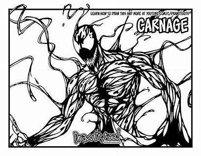 Carnage Coloring Marvel Draw Drawing Comic Classic